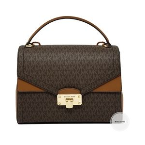 Michael Kors Large Brown Kensley Satchel Crossbody